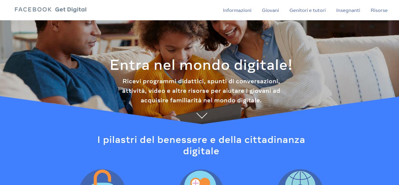 Facebook lancia GetDigital, il programma per aiutare ragazzi, genitori e insegnanti a utilizzare il digitale in maniera sicura | iSchool | StartupItalia!